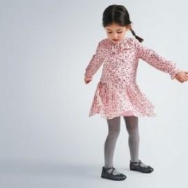 Sukienka w serduszka dziewczęca Mayoral 4975-91 różowa
