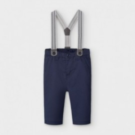Spodnie długie z szelkami dla chłopców Mayoral 2565-61 granatowe