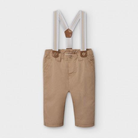 Spodnie długie z szelkami dla chłopców Mayoral 2565-60 brązowe