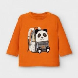 Koszulka z długim rękawem dla chłopca Mayoral 2042-82 pomarańczowa