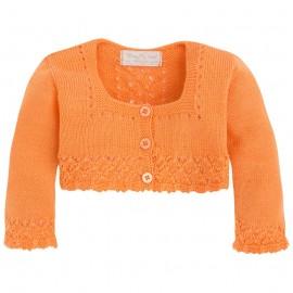 Mayoral 1317-70 Rozpinany sweterek perle Pomarańcz