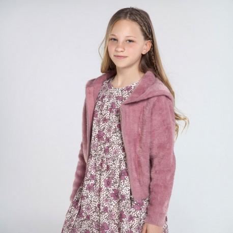 Bluza trykot z misiem dziewczynka Mayoral 7338-17 Różowy