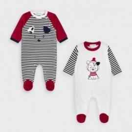 Komplet piżamek welurowych chłopięcych Mayoral 2772-69 Czerwony/biały