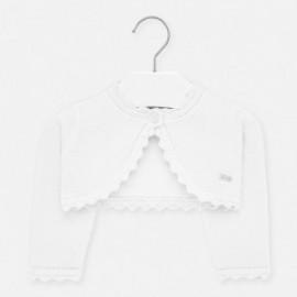 Sweterek dzianinowy dla dziewczynek Mayoral 306-80 Srebrny