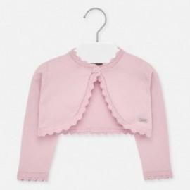 Sweterek dzianinowy dla dziewczynek Mayoral 306-84 różowy