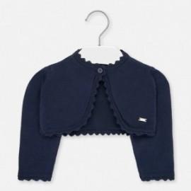 Sweterek dzianinowy dla dziewczynek Mayoral 306-87 granatowy