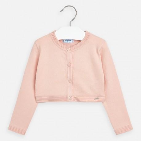 Sweterek elegancki dla dziewczynek Mayoral 321-91 brzoskwiniowy