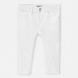 Spodnie slim fit chłopięce Mayoral 506-32 białe