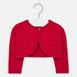 Sweterek dzianinowy dla dziewczynek Mayoral 1326-34 czerwony