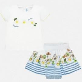 Komplet bluzka i spódnica dla dziewczynki Mayoral 1952-83 niebieski