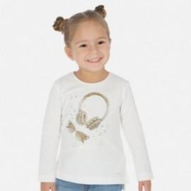 Koszulka z długim rękawem dla dziewczynek Mayoral 3020-42 Kremowa
