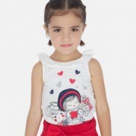 Koszulka na ramiączkach dla dziewczynek Mayoral 3022-59 Biała
