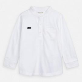 Koszulka z długim rękawem chłopiec Mayoral 3073-30 biała