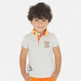 Koszulka polo z nadrukiem chłopięca Mayoral 3154-87 szare