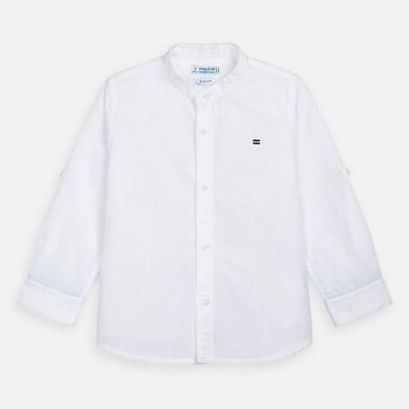 Koszula na stójce dla chłopców Mayoral 3170-30 biała