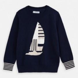 Sweter z haftem dla chłopców Mayoral 3316-88 granatowy