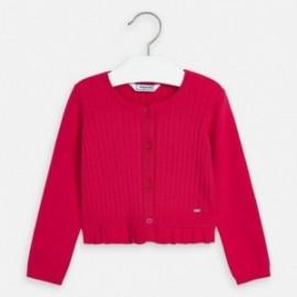 Sweter rozpinany dziewczęcy Mayoral 3320-76 truskawka