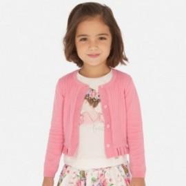 Sweter rozpinany dziewczęcy Mayoral 3320-73 różowy