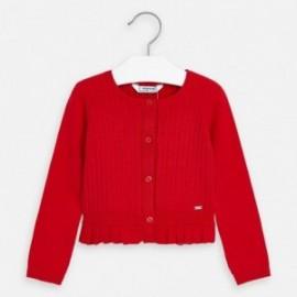 Sweter rozpinany dziewczęcy Mayoral 3320-78 czerwony