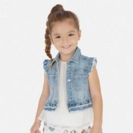 Kamizelka jeansowa dla dziewczynki Mayoral 3322-84 niebieska