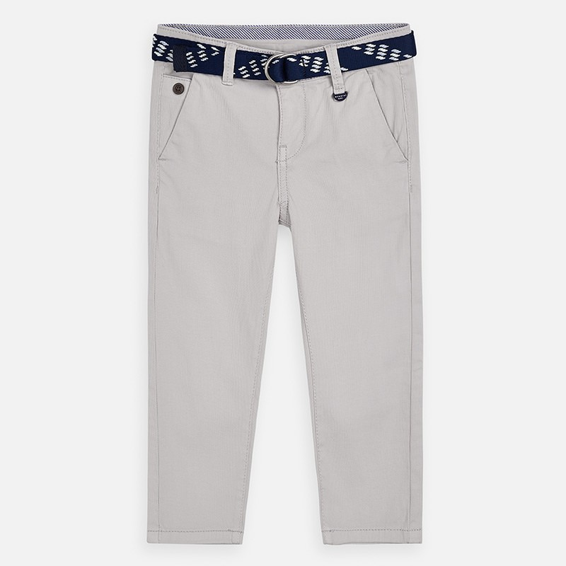 Spodnie klasyczne z paskiem chłopięce Mayoral 3531-45 popiel