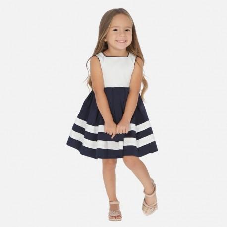 Sukienka wizytowa dla dziewczynki Mayoral 3924-10 granat