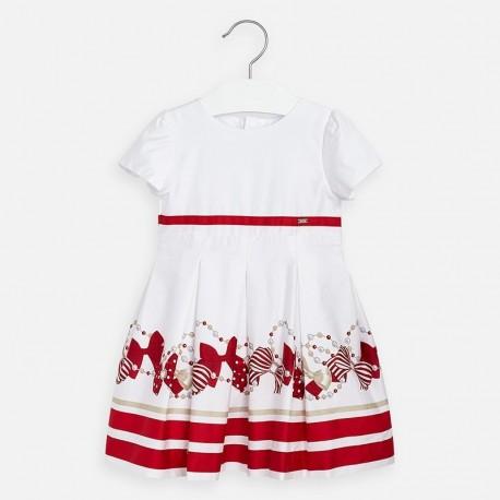 Sukienka wizytowa dla dziewczynki Mayoral 3925-27 czerwona