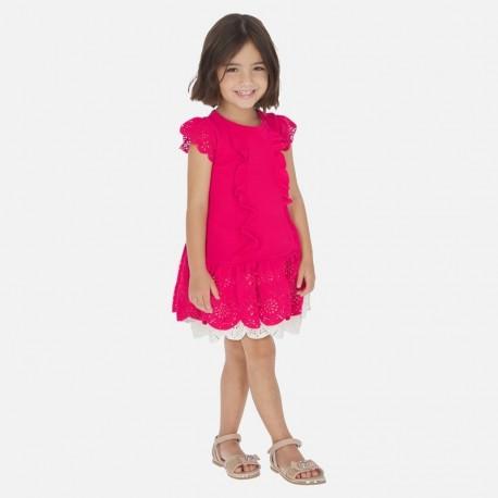 Sukienka elegancka dla dziewczynki Mayoral 3931-15 czerwona