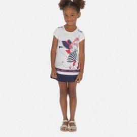Sukienka bawełniana dziewczęca Mayoral 3936-10 granat