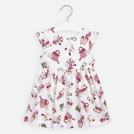 Sukienka elegancka dla dziewczynki Mayoral 3946-16 kolorowa