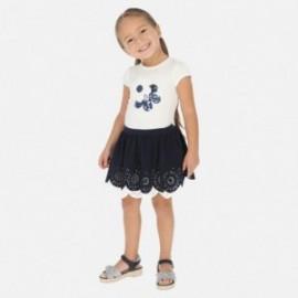 Komplet spódnica i bluzka dla dziewczynki Mayoral 3965-18 granat