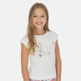 Koszulka z krótkim rękawem dziewczęca Mayoral 6001-93 Biały