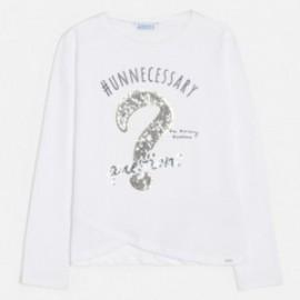 Koszulka z długim rękawem dziewczęca Mayoral 6026-64 Biały