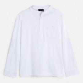 Koszulka ze stójką chłopięca Mayoral 6073-74 Biały