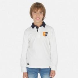 Polo z długim rękawem chłopiec Mayoral 6146-62 Białe