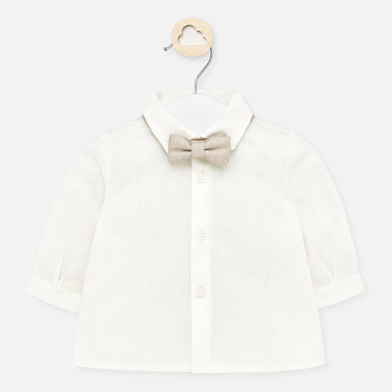 Koszula elegancka z muszką chłopięca Mayoral 1142-34 Kremowy
