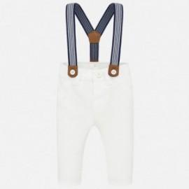 Spodnie z szelkami chłopięce Mayoral 1542-10 Biały