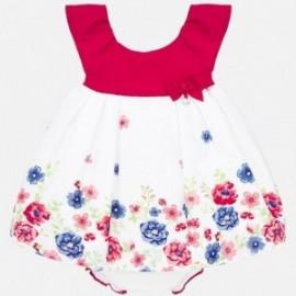 Sukienka w kwiaty dziewczęca Mayoral 1880-34 Czerwony
