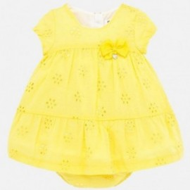 Sukienka plumeti dla dziewczynki Mayoral 1884-68 Żółty