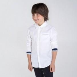 Koszula z długim rękawem chłopięca Mayoral 7134-93 Biały