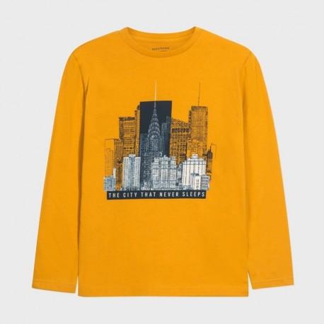 Koszulka z długim rękawem chłopięca Mayoral 7049-82 Żółty