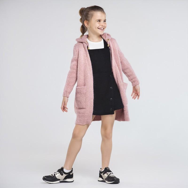 Sweter długi dziewczęcy Mayoral 7334-75 Róż