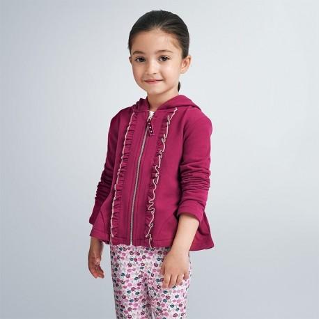 Bluza z kapturem dziewczęca Mayoral 4421-40 Bordowy