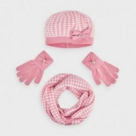 Komplet zimowy pepitka dziewczęcy Mayoral 10895-75 Różowy