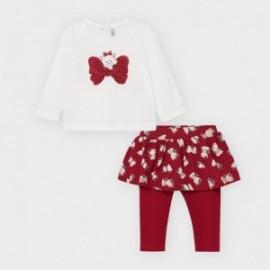 Komplet leginsy/spódnica z bluzką dziewczęcy Mayoral 2793-28 Czerwony