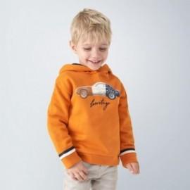 Bluza z kapturem chłopięca Mayoral 4461-41 pomarańczowy