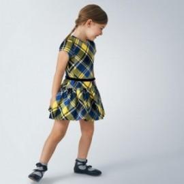 Sukienka w kratkę dziewczęca Mayoral 4974-42 Żółty