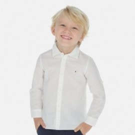 Koszula w kropki chłopięca Mayoral 141-22 Biały
