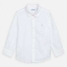 Koszula z długim rękawem chłopięca Mayoral 141-24 Biały