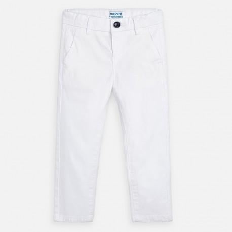 Spodnie eleganckie dla chłopca Mayoral 512-61 białe